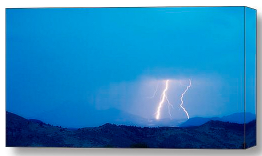 Lightning Bolts Hitting Continental Divide Canvas Wrap Lightning Bolts Striking the Colorado Continental Divide