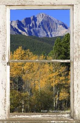 Longs Peak Window View fine art photography print and canvas art