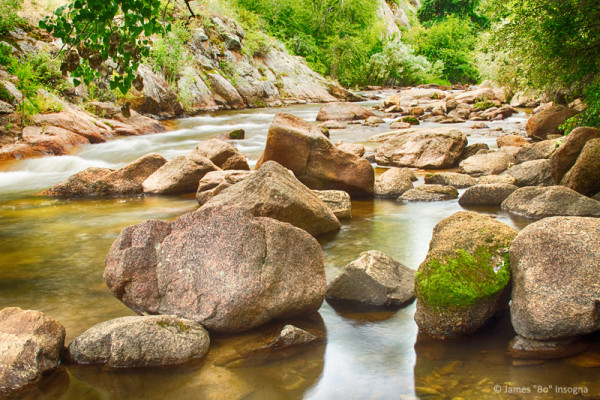 Looking Upstream The Colorado St Vrain River