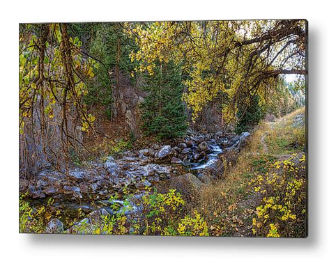 Boulder Creek Autumn View Acrylic Art Print