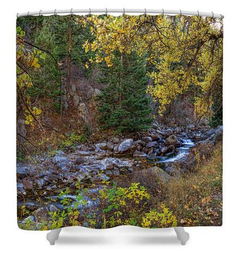 Boulder Creek Autumn View Shower Curtain