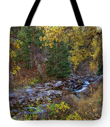 "Boulder Creek Autumn View Tote Bag 18"" x 18"""
