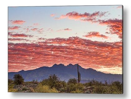 Arizona Four Peaks Mountain Colorful View Acrylic Print