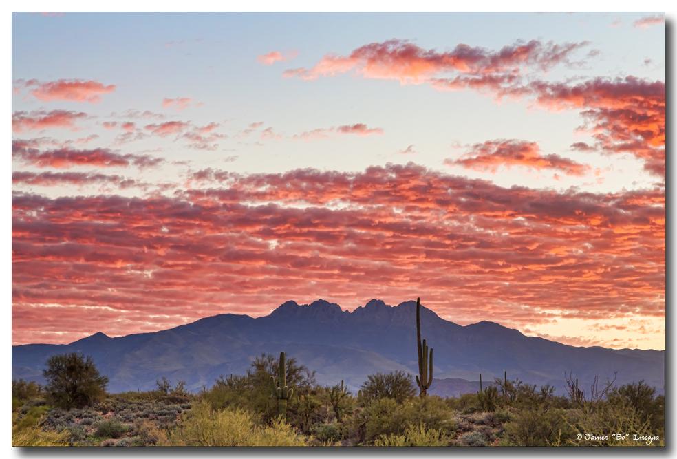 Arizona Four Peaks Mountain Colorful View Art Prints