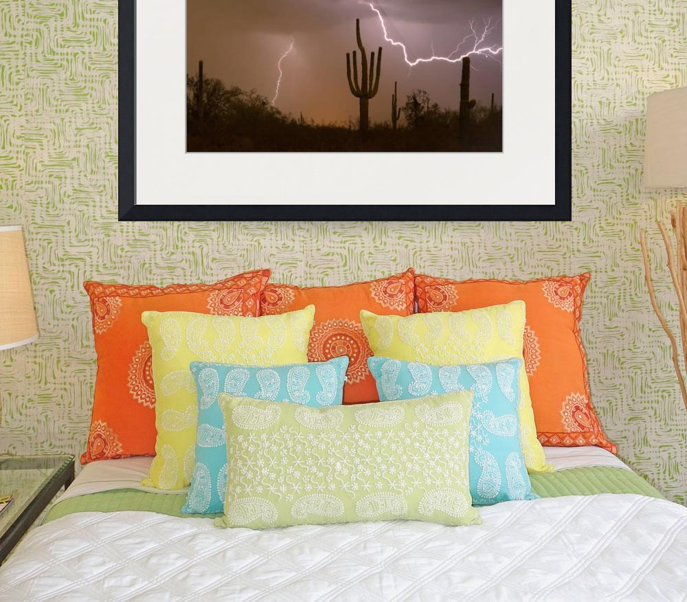 Sonoran-Saguaro-Southwest-Desert-Lightning-Strike_art_prints