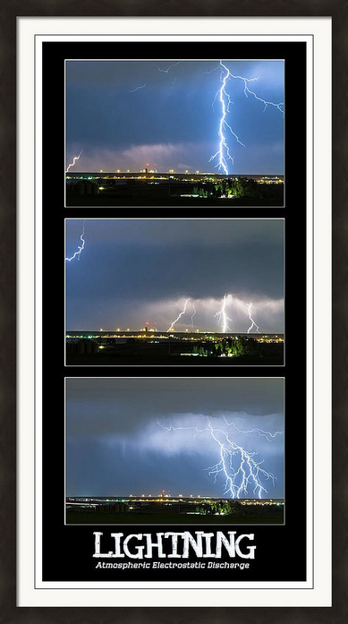 Lightning - Atmospheric Electrostatic Discharge Framed Print